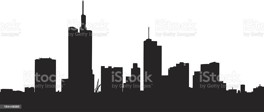 Vector of buildings in Frankfurt, Germany royalty-free stock vector art