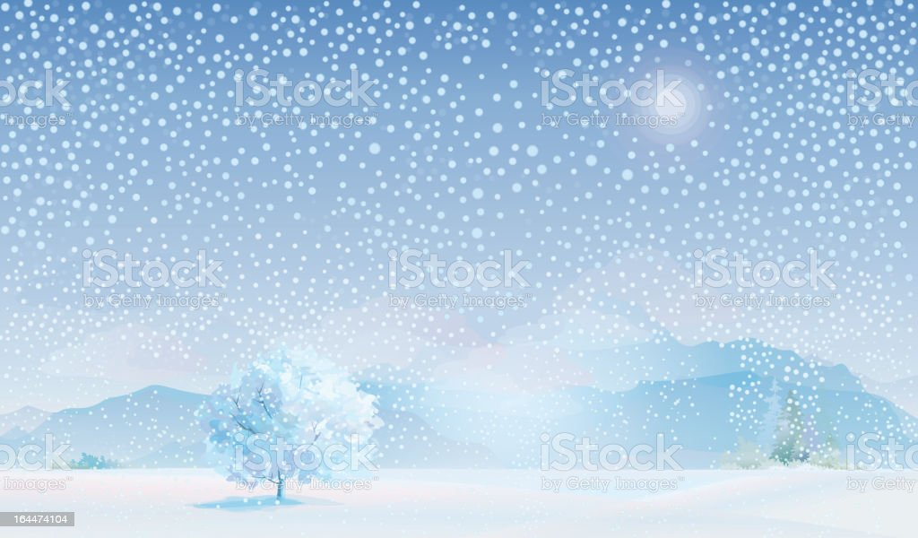 Vector of winter landscape. royalty-free stock vector art