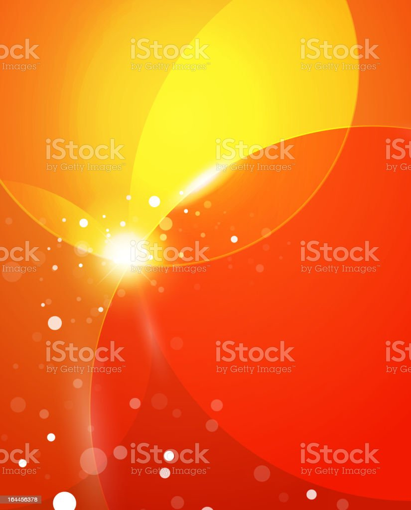 Vector orange shiny energy background royalty-free stock vector art