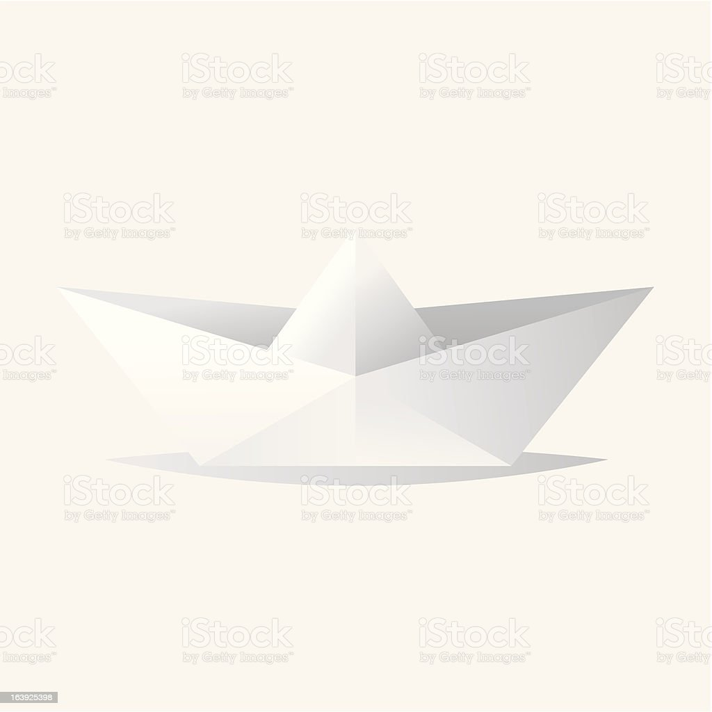 Vector origami boat royalty-free stock vector art