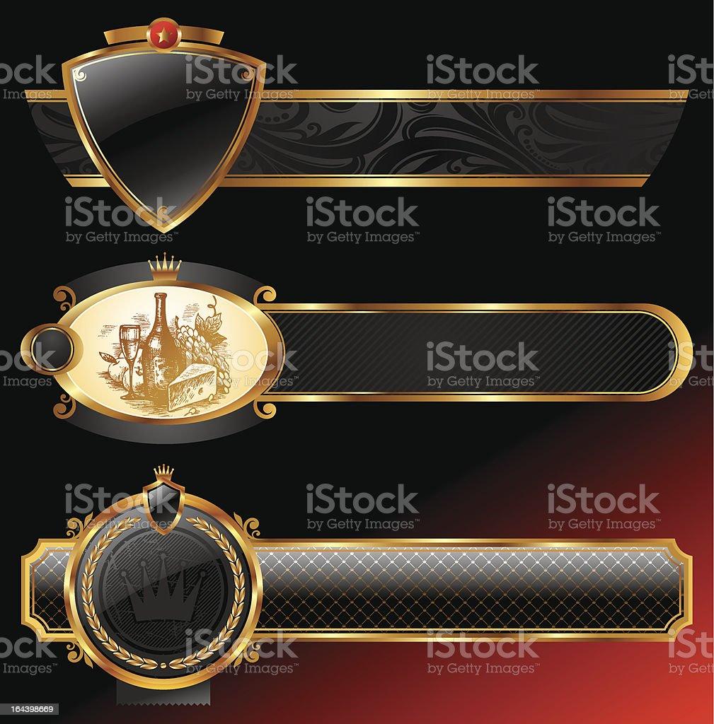 Vector ornate decorative golden frames royalty-free stock vector art