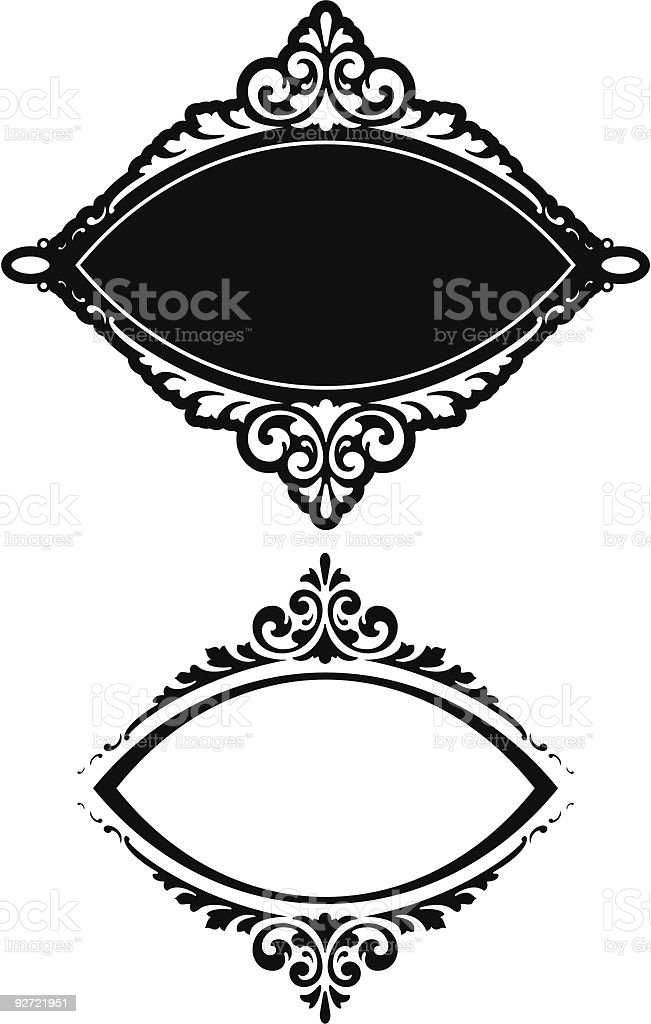 Vector Oval Panel/Label Design royalty-free stock vector art