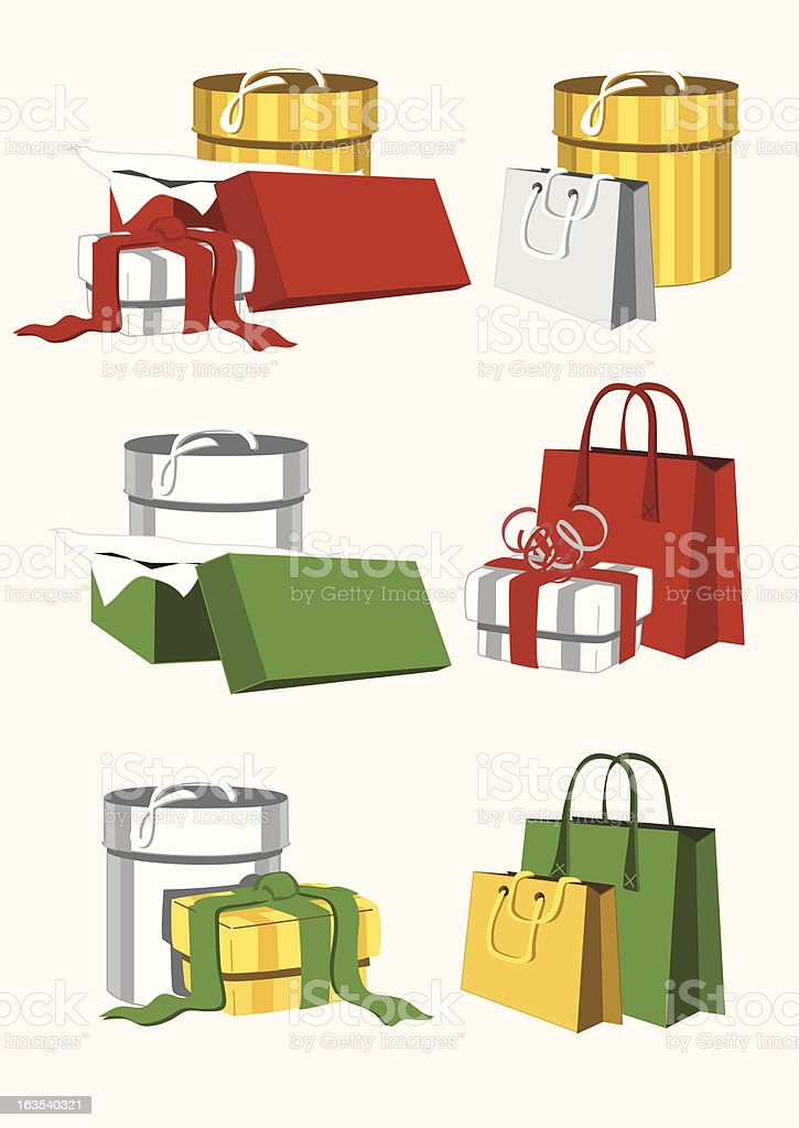 Vector packages royalty-free stock vector art