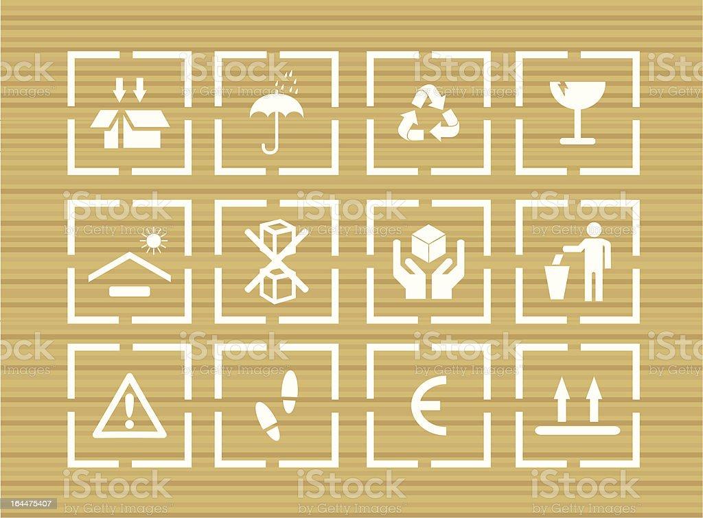 vector packing symbols royalty-free stock vector art