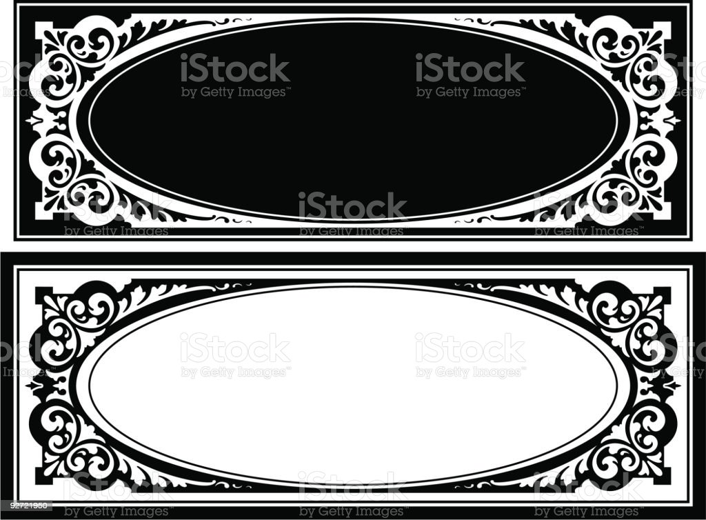 Vector Panel/Label Design royalty-free stock vector art