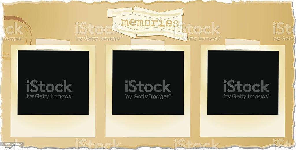 Vector photo Memories royalty-free stock vector art