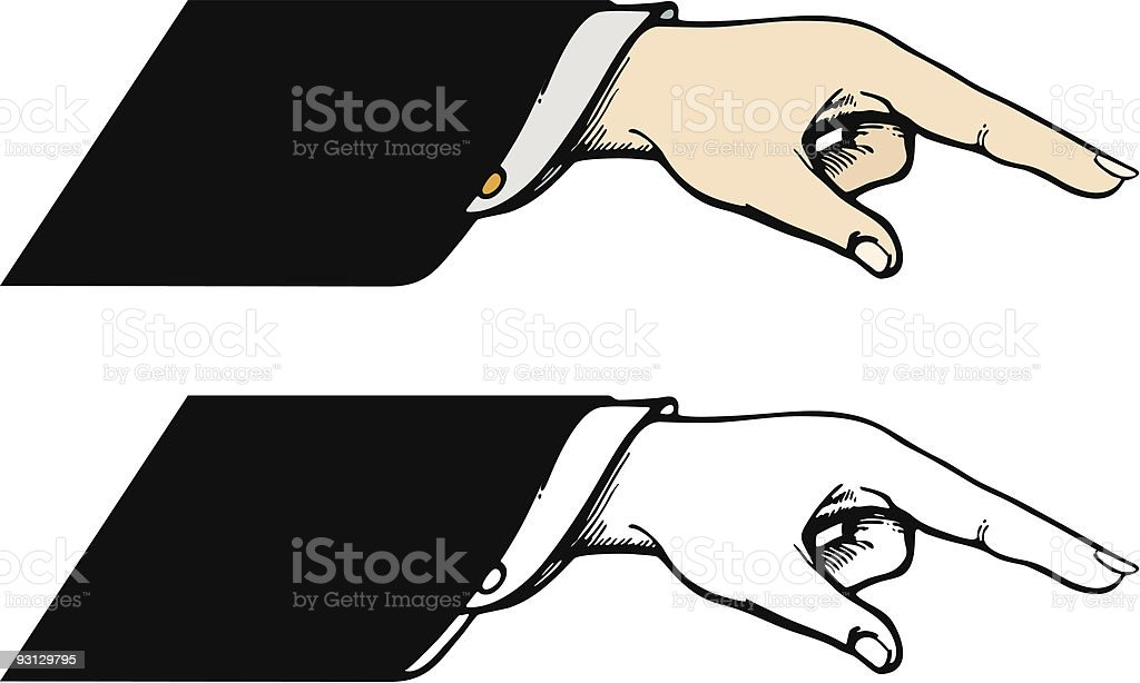 Vector Pointing Hand 10605 royalty-free stock vector art