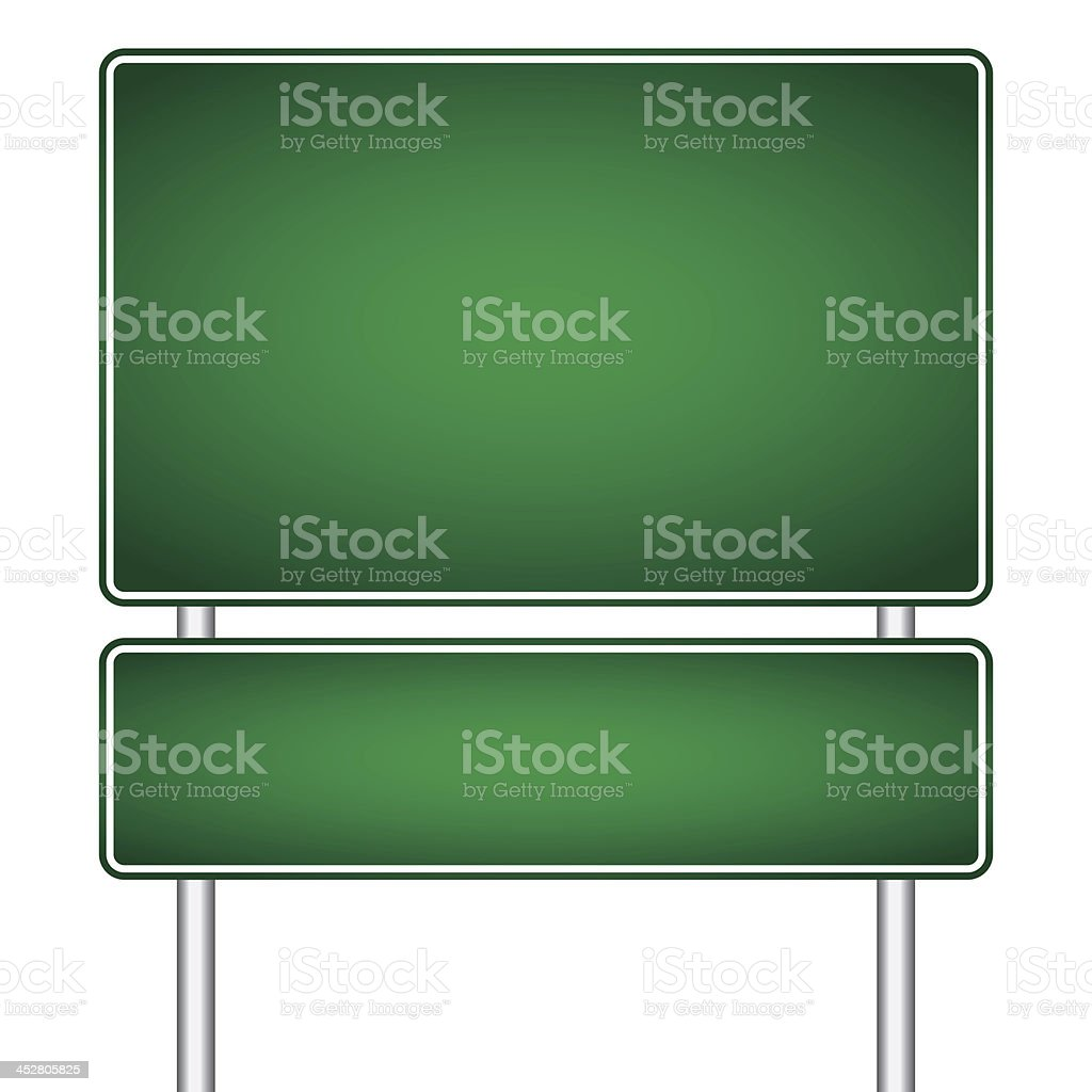 vector pole sign road blank isolated royalty-free stock vector art