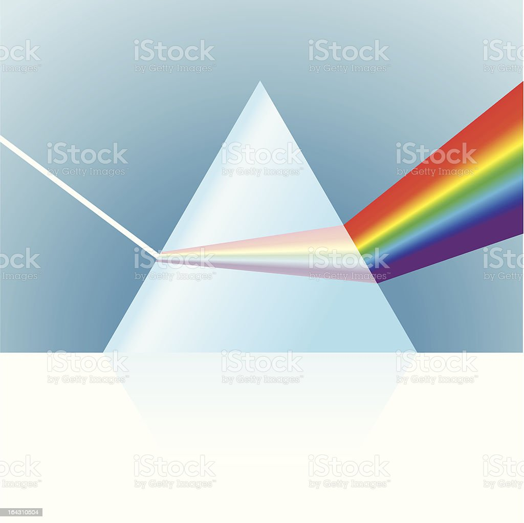 Vector Prism Illustration royalty-free stock vector art