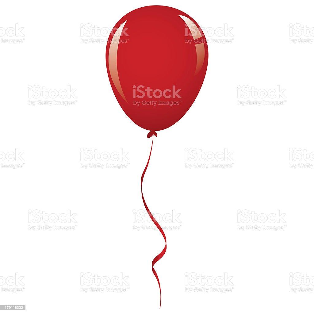vector red balloon ribbon royalty-free stock vector art