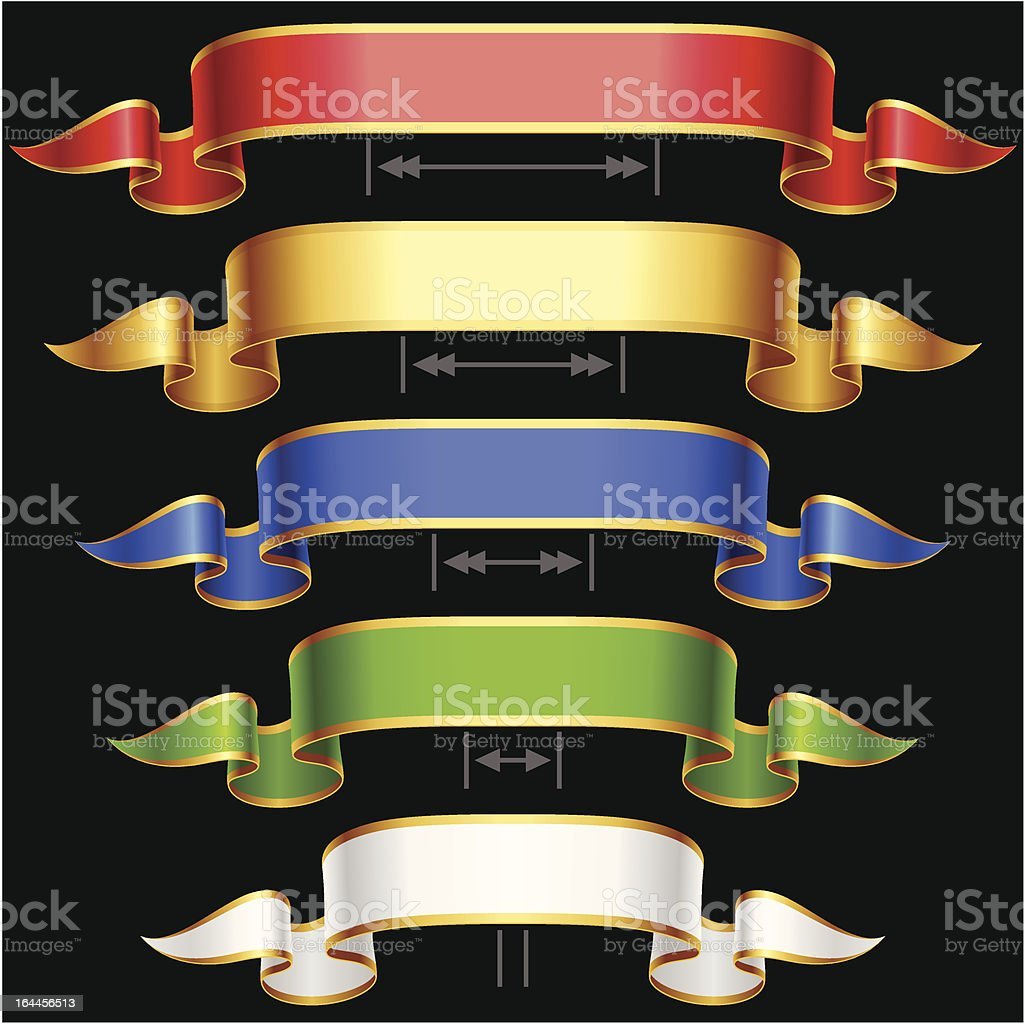 Vector Ribbon set with Adjusting length royalty-free stock vector art