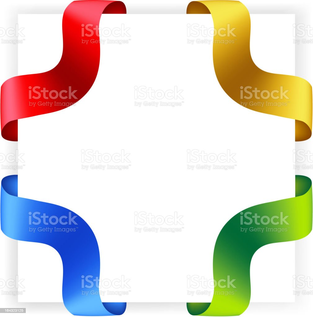 Vector ribbons, different colors. royalty-free stock vector art