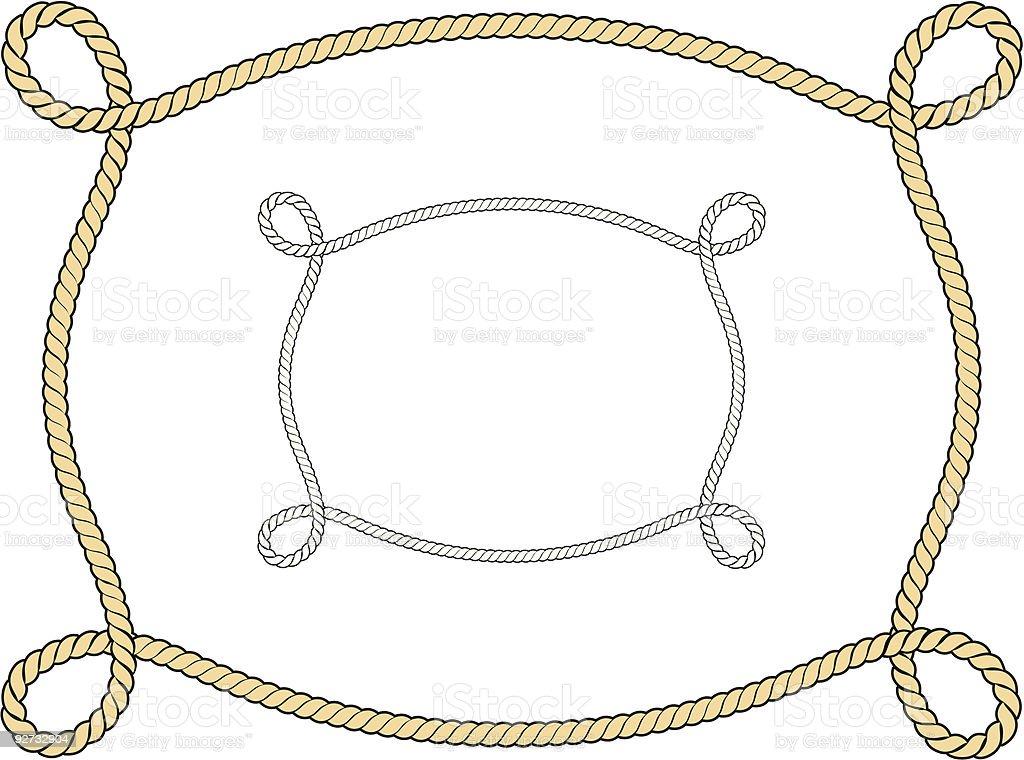 Vector Rope Border/Frame vector art illustration