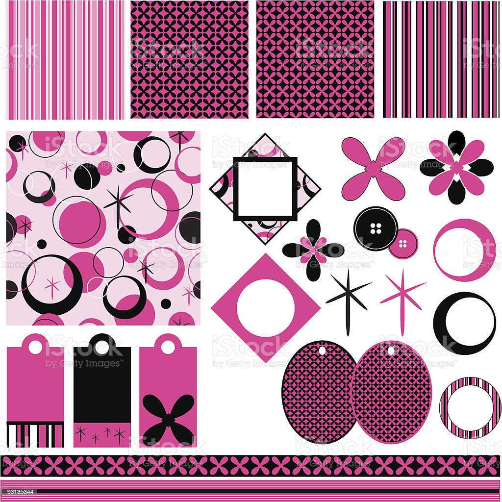 Vector Scrapbook pages royalty-free stock vector art