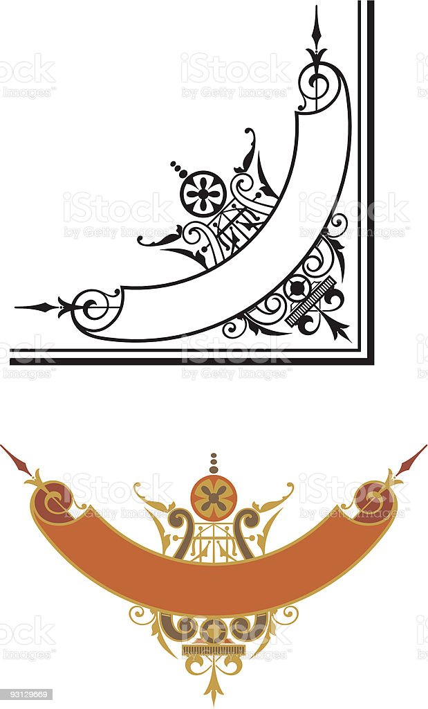 Vector Scroll Corner - 122805 royalty-free stock vector art