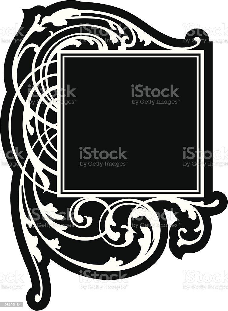 Vector Scroll Panel royalty-free stock vector art