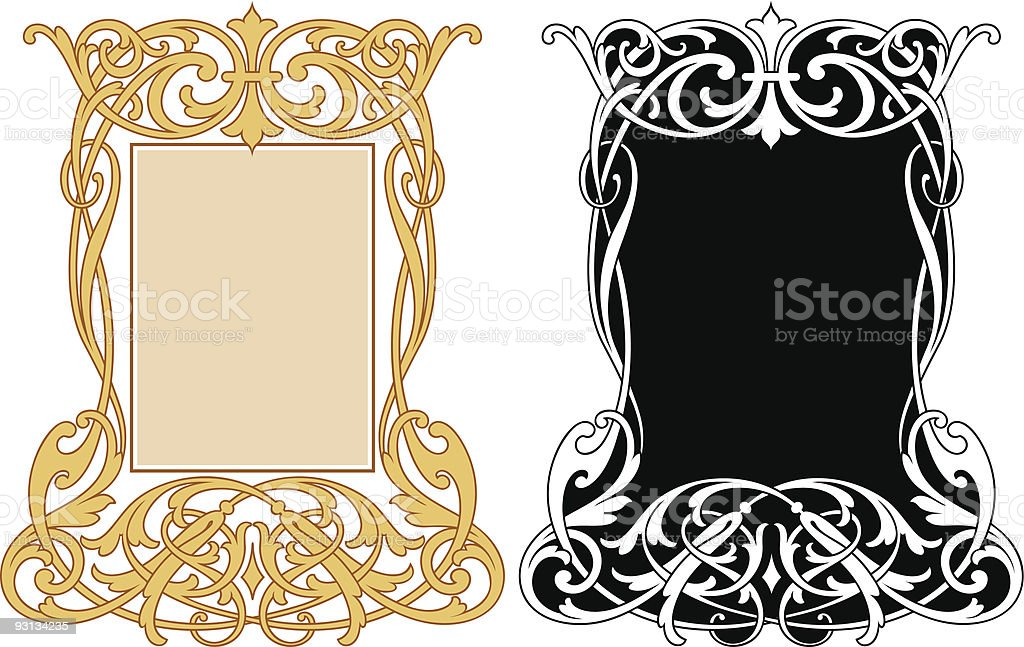 Vector Scroll Panel royalty-free stock vector art