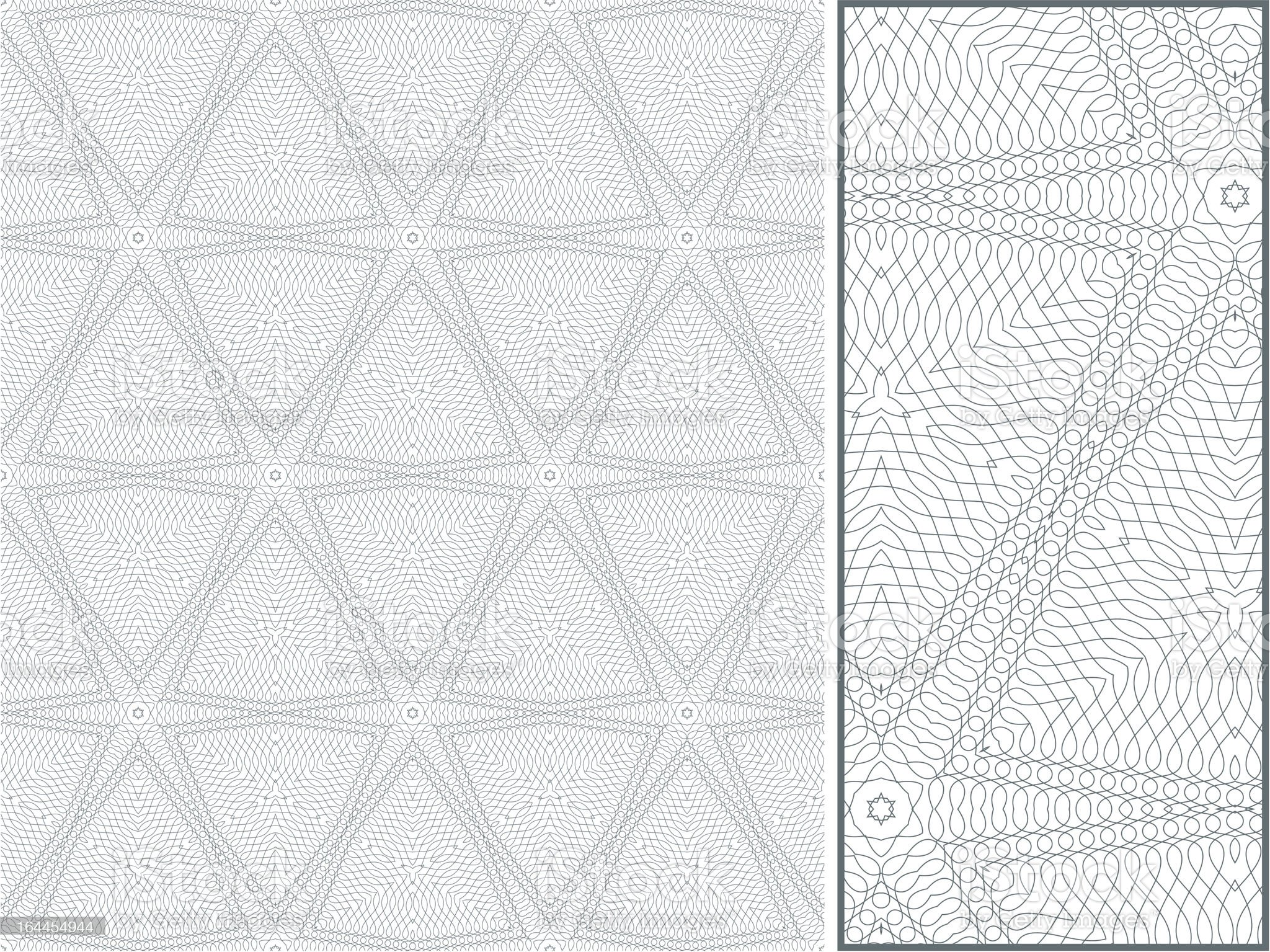 Vector seamless blue guilloche ornament royalty-free stock vector art