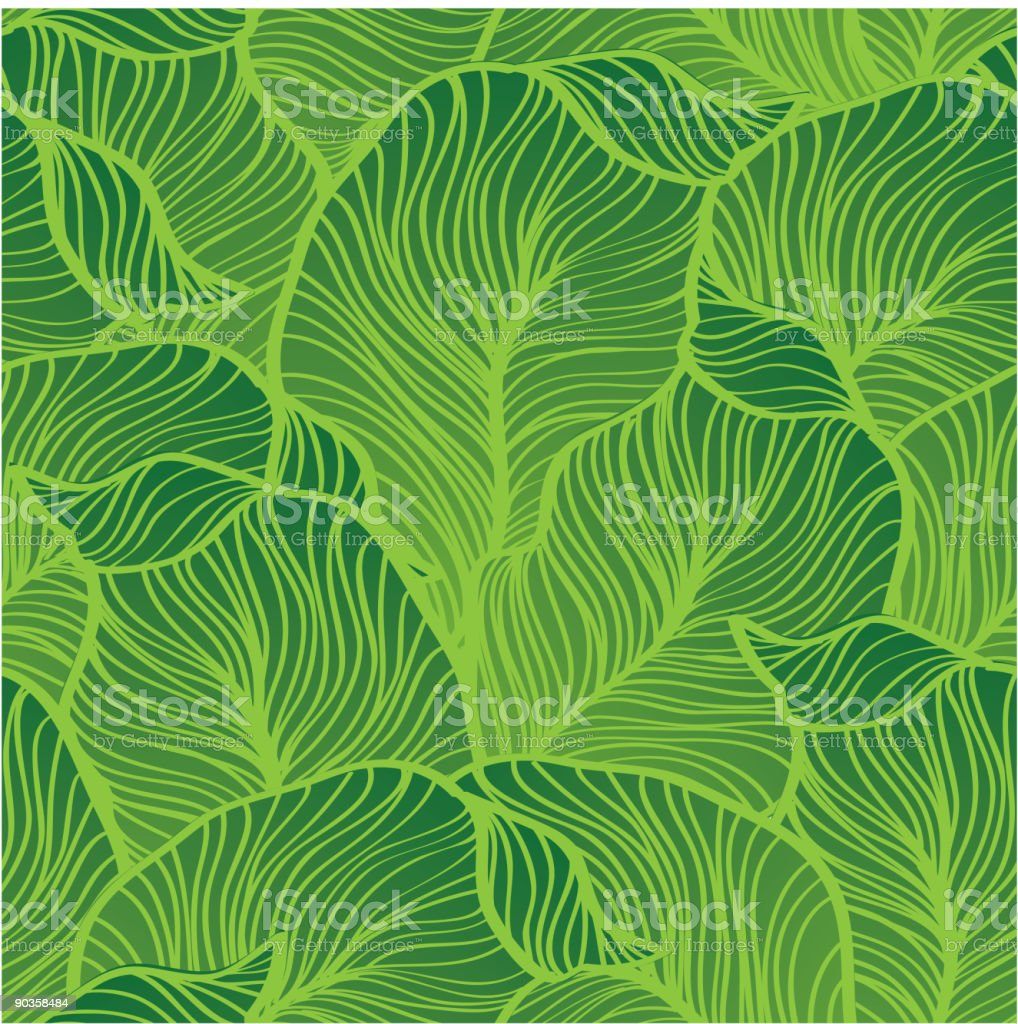 Vector seamless green leaves royalty-free stock vector art
