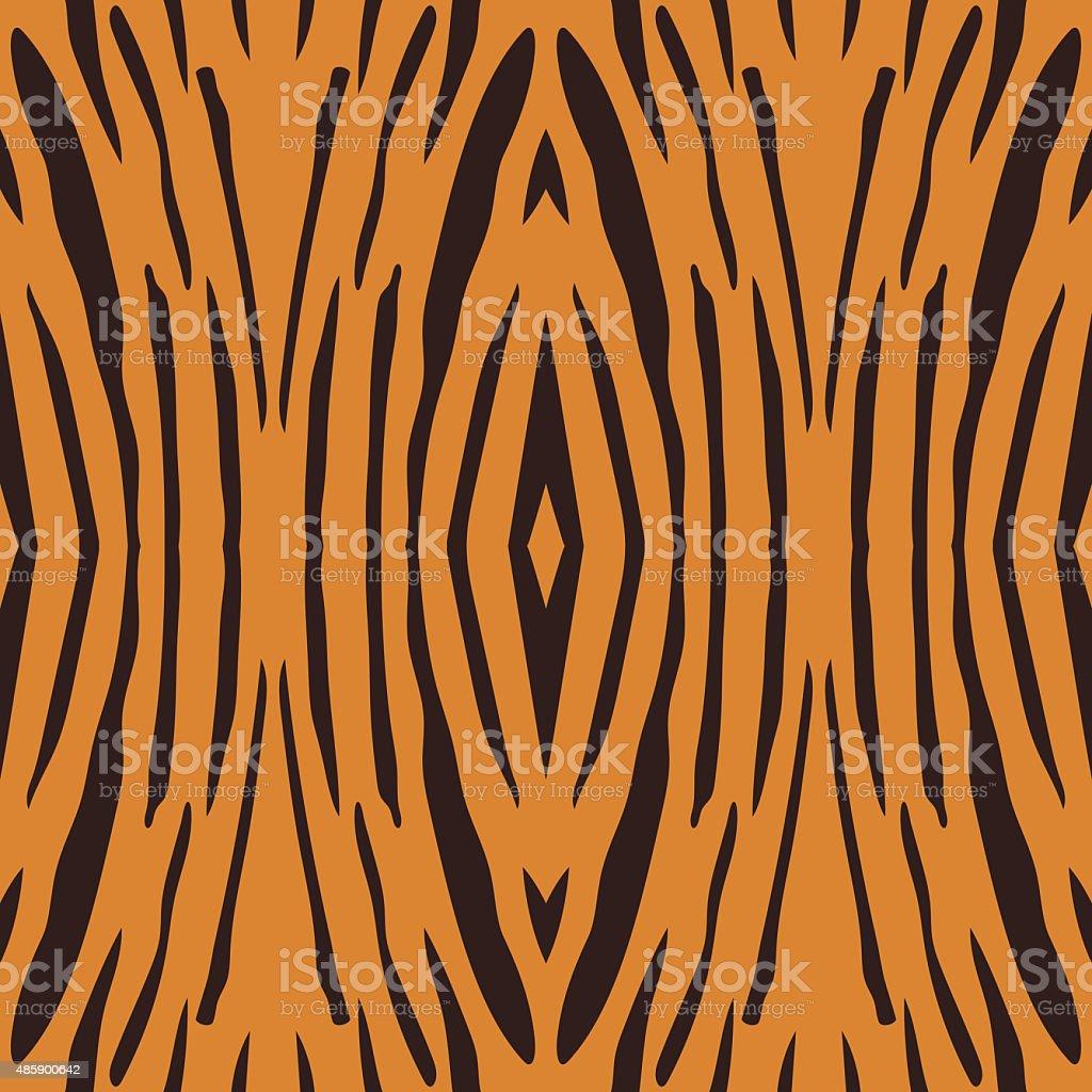 Vector seamless illustration of tiger stripe pattern. vector art illustration
