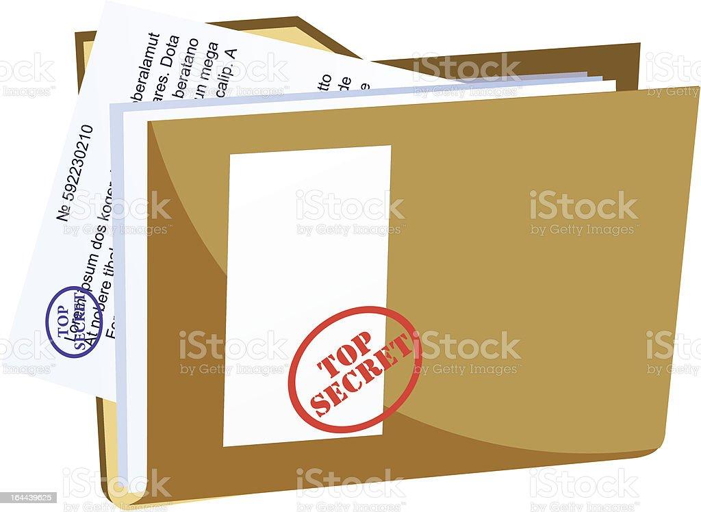 vector secret folder vector art illustration