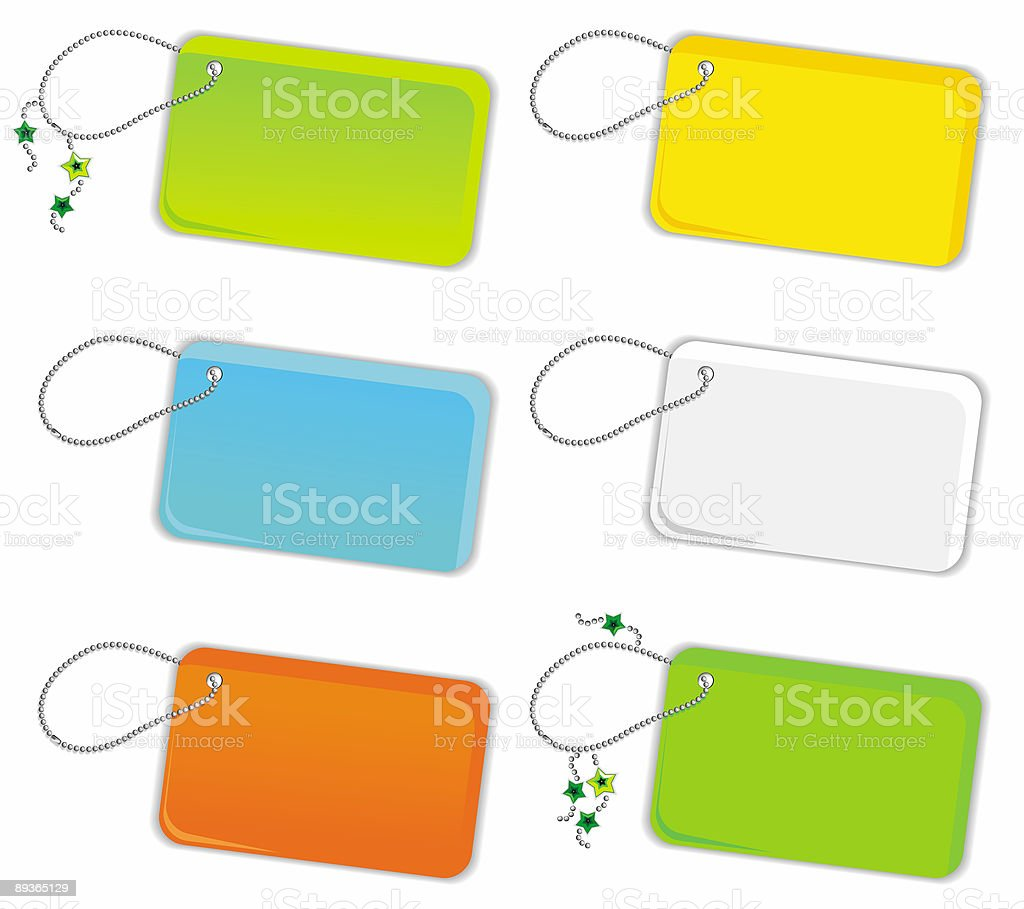 Vector set of trinket tags. royalty-free stock vector art