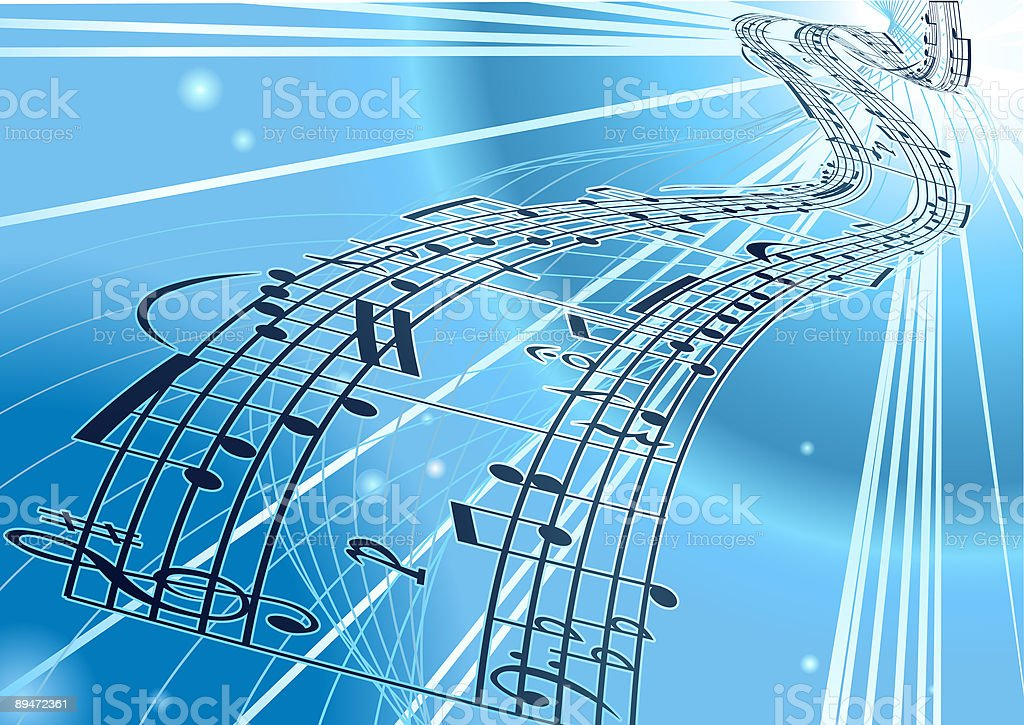 Vector Sheet music background royalty-free stock vector art