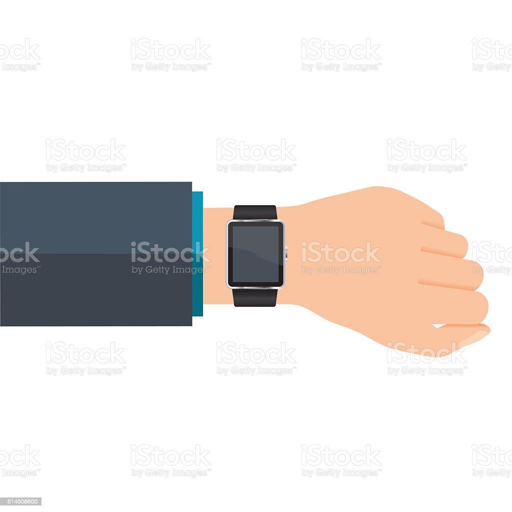 Vector smart watch vector art illustration