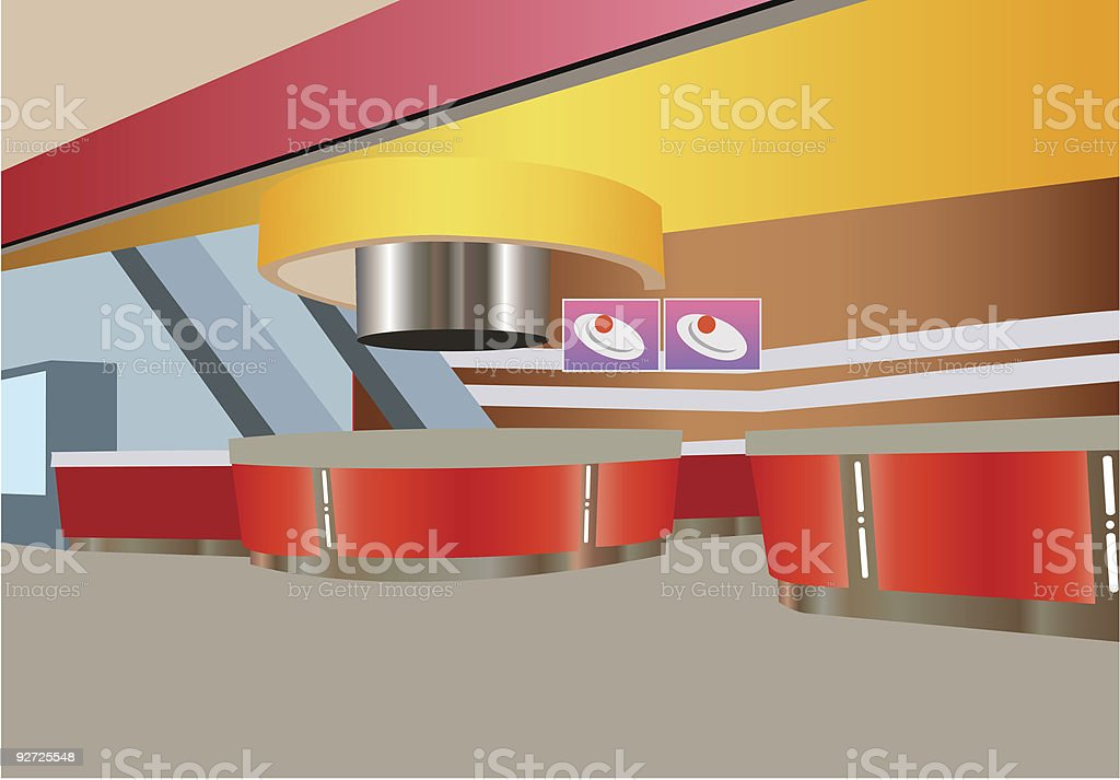 vector snack bar interior royalty-free stock vector art