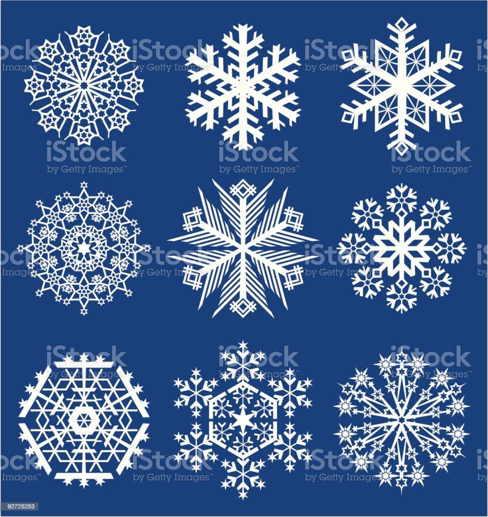 Vector snowflakes royalty-free stock vector art