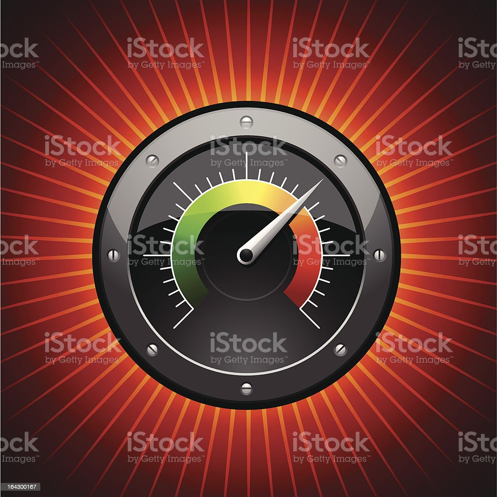 Vector Speed-o-meter Symbol royalty-free stock vector art
