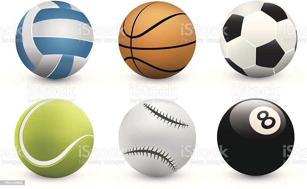 Vector Sport balls royalty-free stock vector art