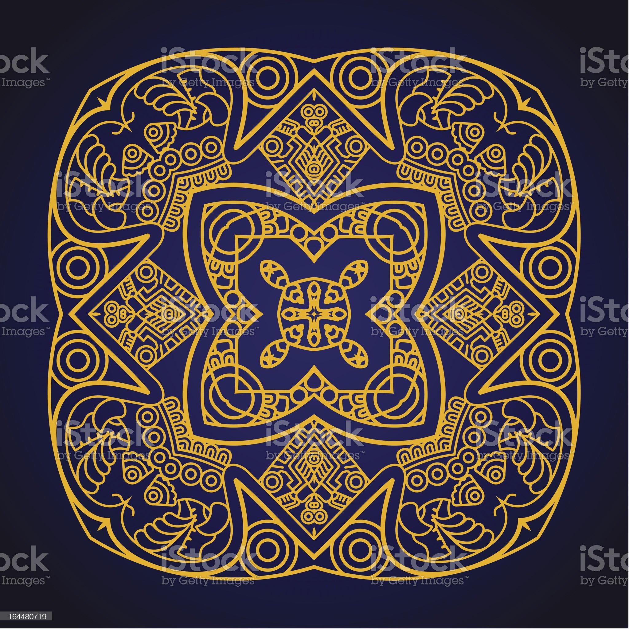 Vector square decorative design element royalty-free stock vector art