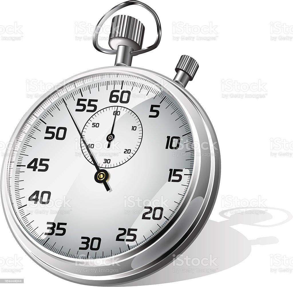Vector stopwatch vector art illustration