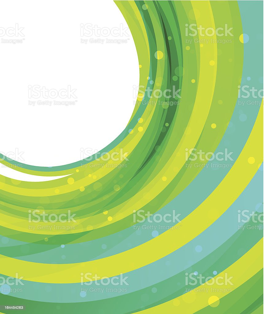 Vector swirl background: blue and green royalty-free stock vector art
