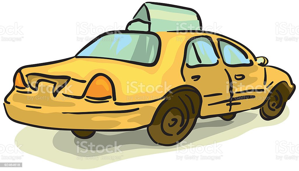 Vector Taxi vector art illustration