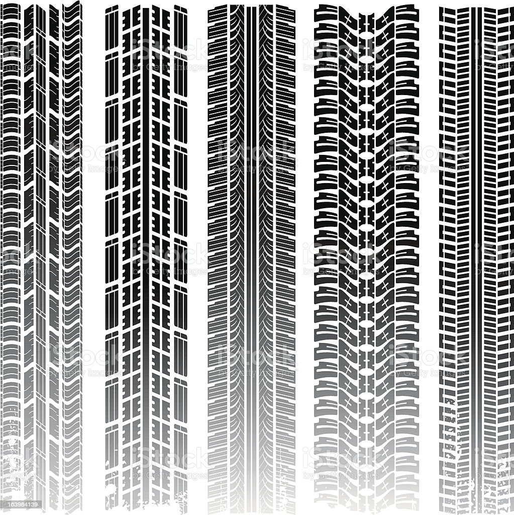 Vector tire track royalty-free stock vector art