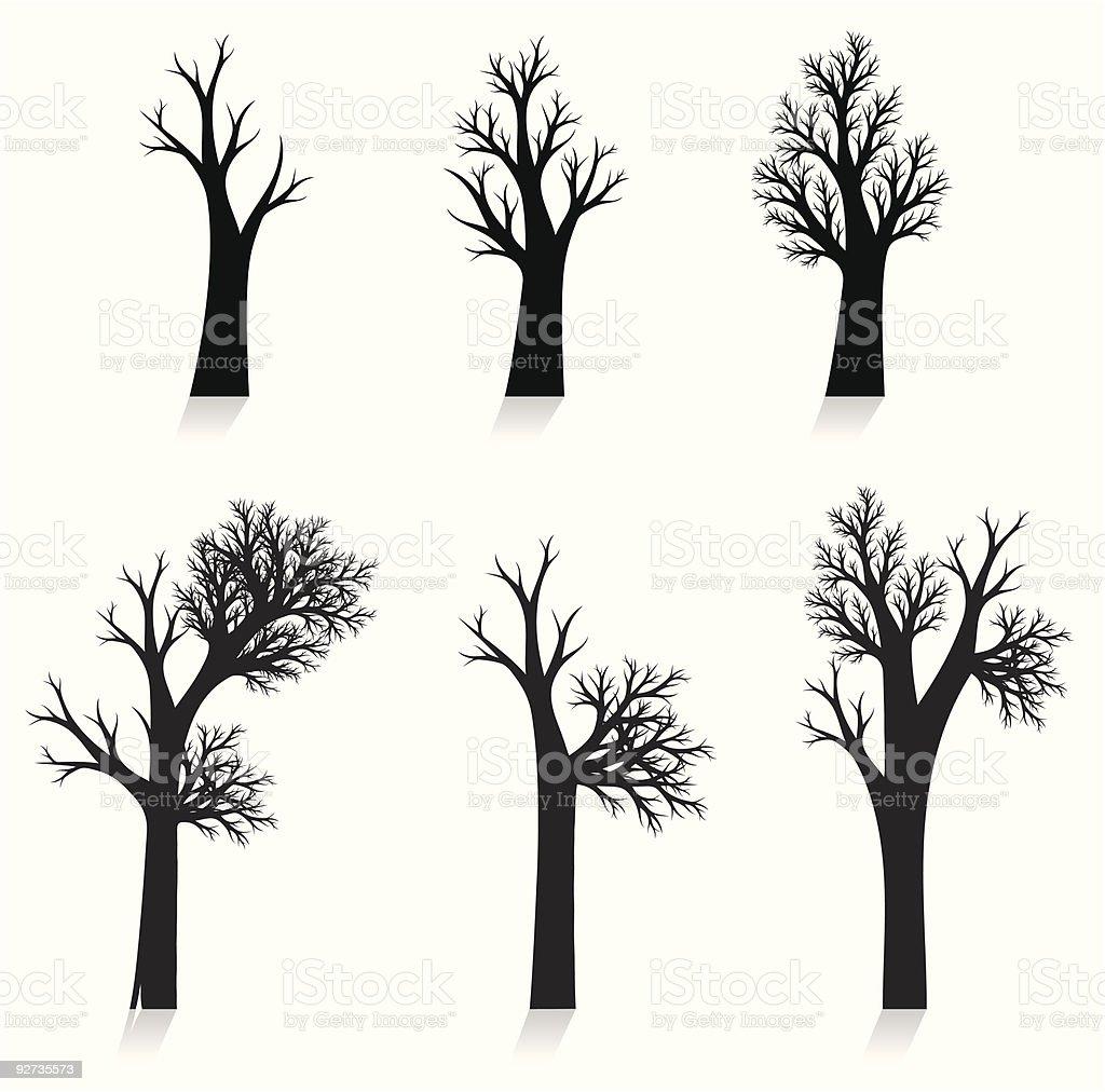 vector tree silhouette royalty-free stock vector art