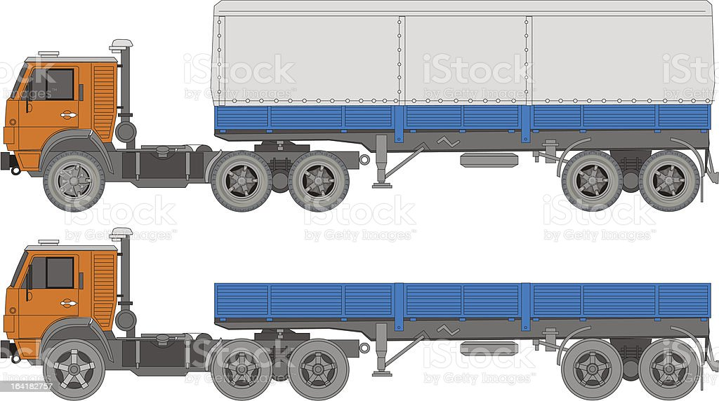 Vector truck royalty-free stock vector art