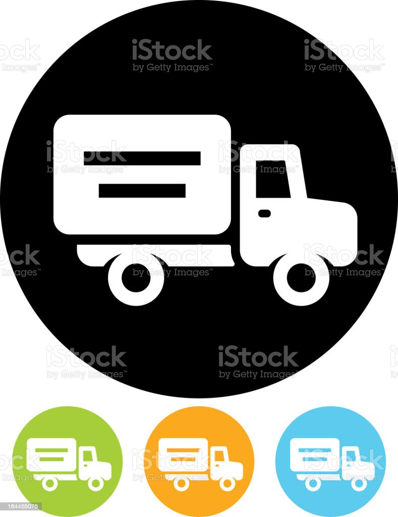 Vector truck vehicle icon isolated vector art illustration