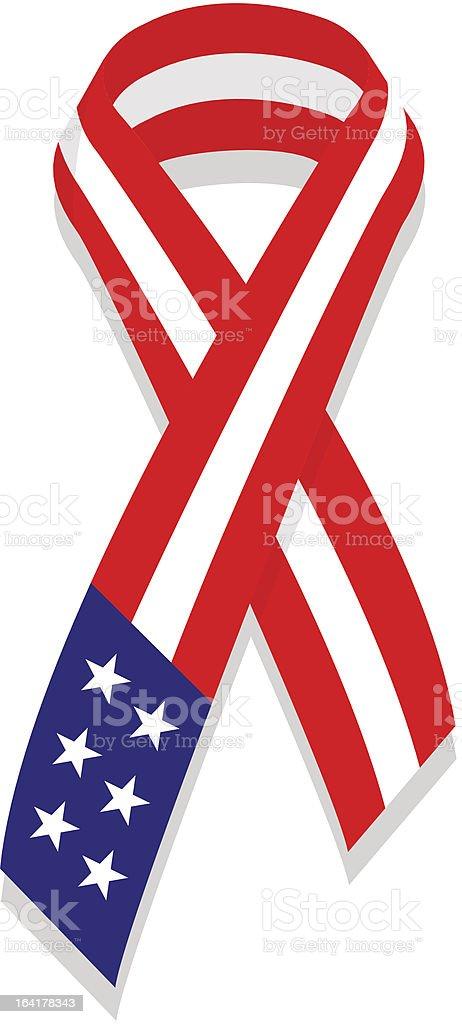 Vector USA ribbon vector art illustration