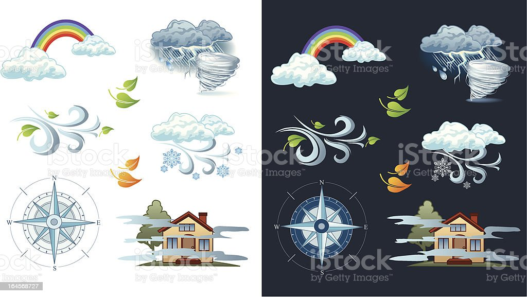 Vector weather forecast icon vector art illustration