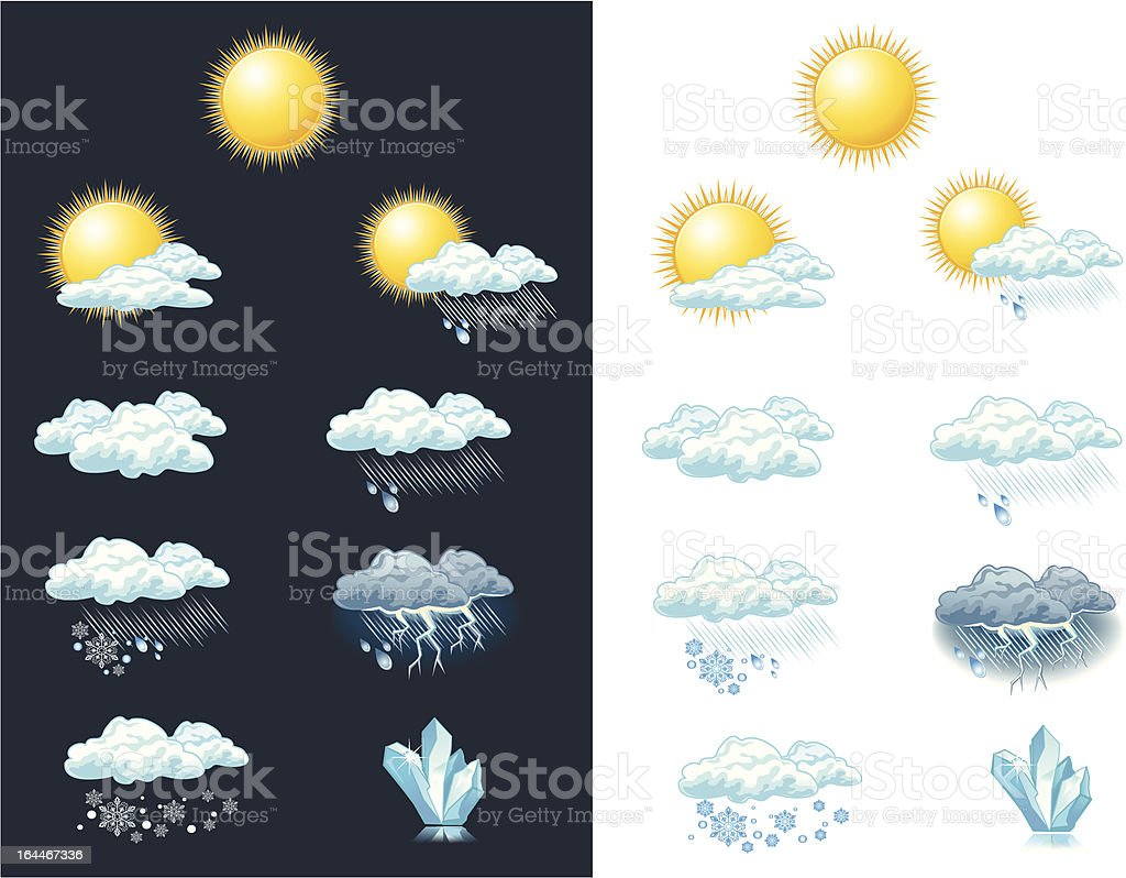 Vector weather forecast icons - day vector art illustration