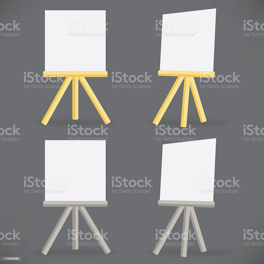 vector wooden easel drawing board royalty-free stock vector art