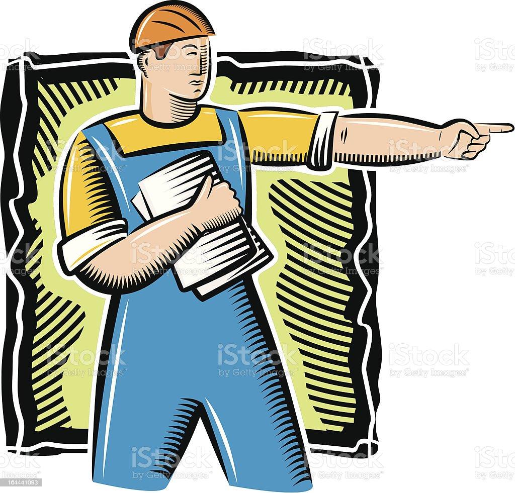 Vector Worker Illustration royalty-free stock vector art