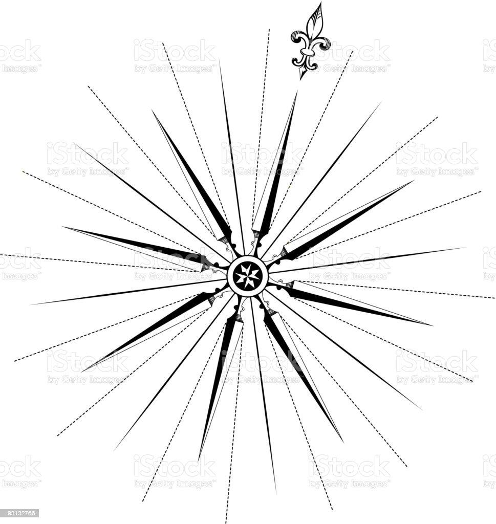 Vectorized Compass royalty-free stock vector art