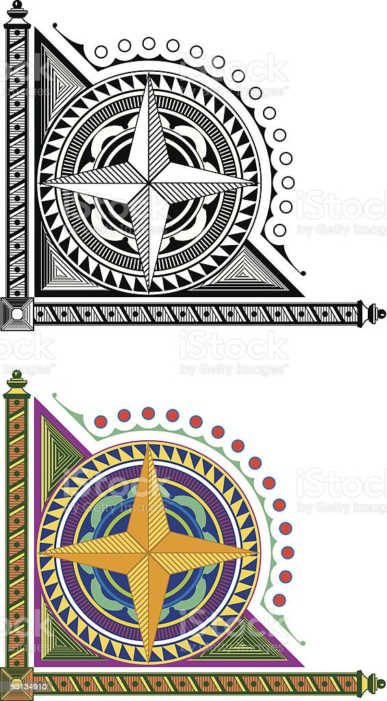 Vectorized Corner Design 1-72505 royalty-free stock vector art