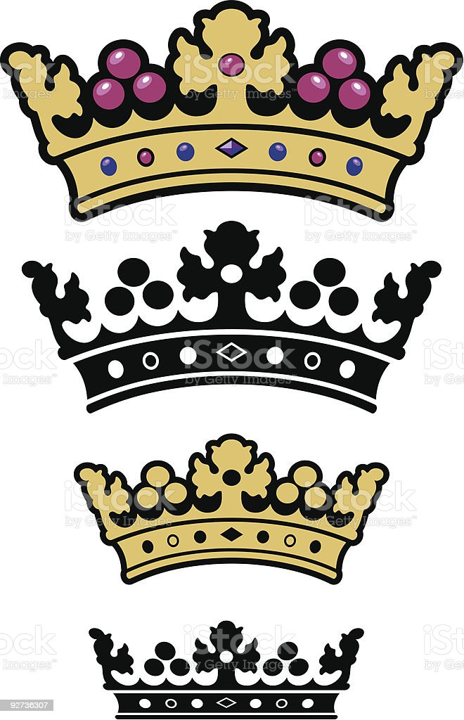 Vectorized Crown royalty-free stock vector art