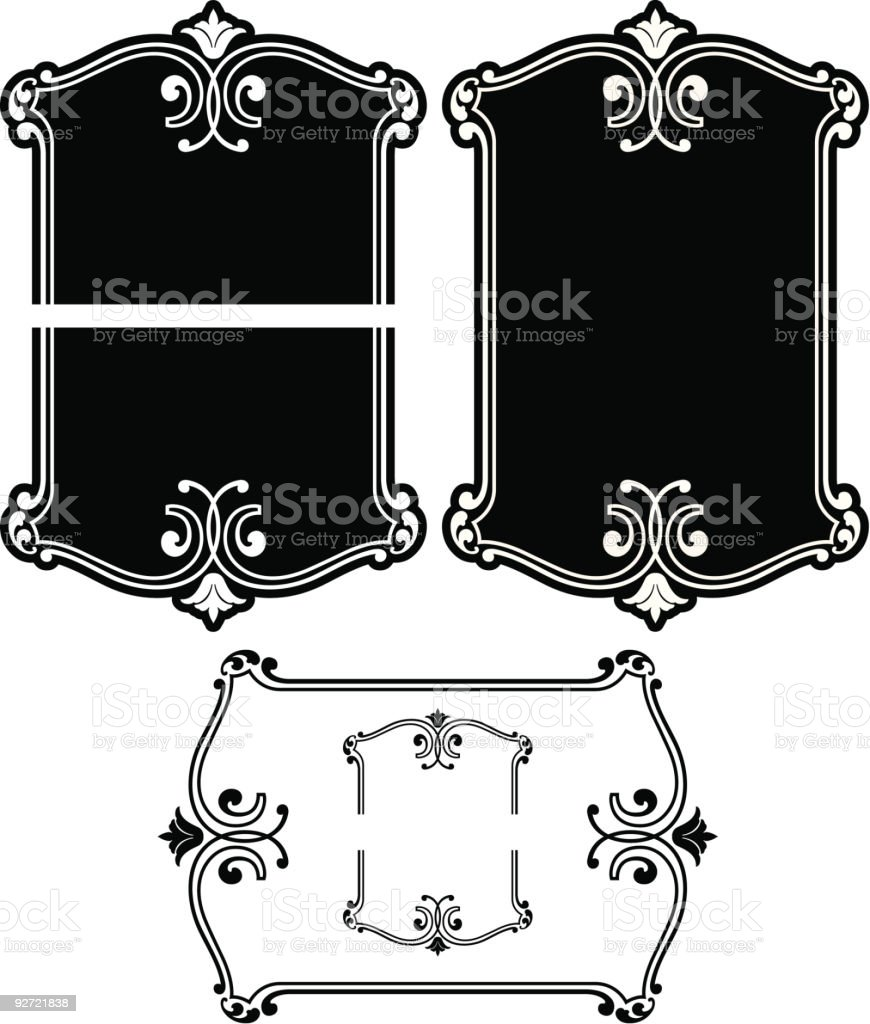 Vectorized Ornate Panel / Label royalty-free stock vector art