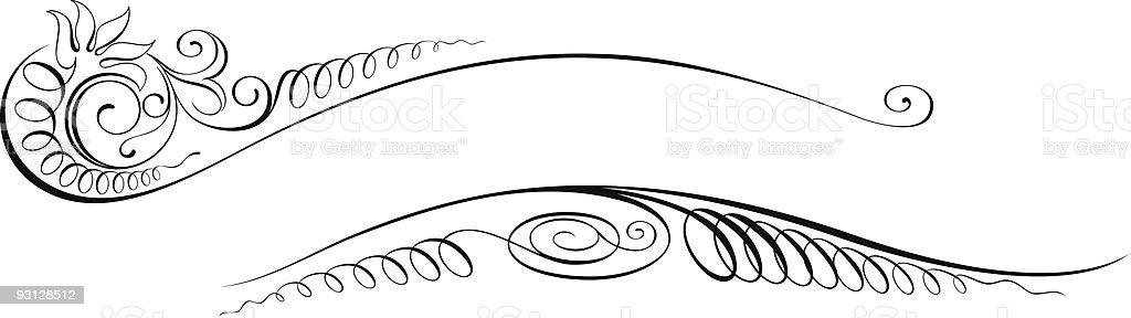 Vectorized Scroll Design royalty-free stock vector art